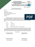 Surat Permohonan Peminjaman Kelas
