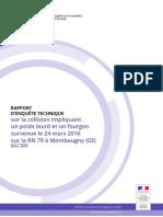 Le rapport du BEA-TT concernant l'accident de Montbeugny