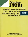 ZUBIRI, X. - Tres dimensiones del ser humano (1).pdf