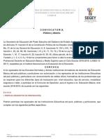 Convocatoria Oposicion Yucatan 18-19