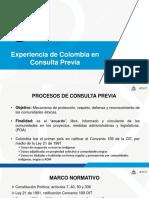 Experiencia de Colombia en consulta Previa