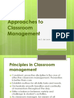 Approaches to Classroom Management