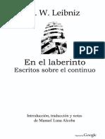 Leibniz En El Laberinto - Escritos Sobre El Continuo.pdf