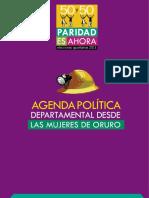 Agenda Politica Del Departamento de Oruro Las Muneres de Oruro