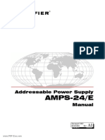 Notifier AMPS 24 AMPS 24E Addressable Power Supply