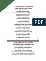 Caminos 7 Rayos, Lucero y Sarabanda, y Diccionario Congo