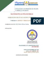 Ejercicios Unidad IV Matematicas Financierasbonos y Obligaciones