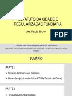 Estatuto Da Cidade e Regularização Fundiária
