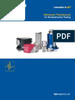 Catálogo Transductores Panametrics-UT