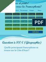 A Vos Risques Et Perils Francophonie