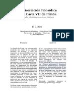 Disertacion Filosofica Carta Vii Platon