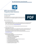 NDG Linux Essentials FAQs - 23Jun14