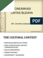 Fk-komunikasi Lintas Budaya - Ibu Contina