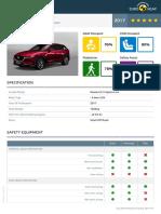 Euroncap 2017 Mazda Cx 5 Datasheet