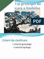 clasificarea limbilor