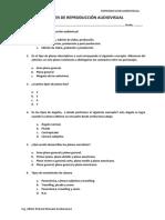 Examen de Reproduccion Audiovisual y Respuestas