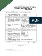 Formato N° 02 Convocatoria proceso elección