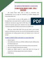 Canara Bank Debit Card