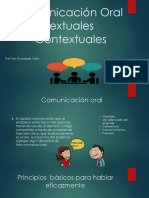 Comunicación Oral Textuales