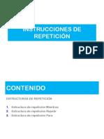 2. Estructuras repetitivas