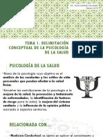 Delimitación conceptual en psicología de la salud