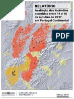Avaliação dos incêndios ocorridos entre 14 e 16 de outubro de 2017 em Portugal Continental