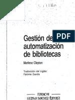 Gestión de La Automatización en Bibliotecas.