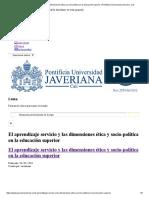 El aprendizaje servicio y las dimensiones ética y socio-política en la educación superior _ Pontificia Universidad Javeriana, Cali.pdf