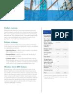 Ws 2016 Licensing Data Sheet