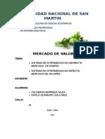 Sistema de Intermediacion Directa e Indirecta