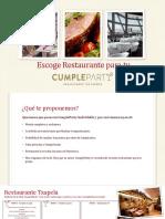 Escoge Restaurante Para Tu Pack Cumpleparty