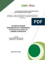 Factores de Emisión Huella de Carbono Corporativa V3