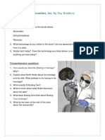 Marionettes Inc Questions