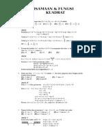 Persamaan kuadrat 1