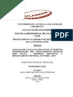 """""""Estudio de Las Patologías en El Pavimento Intertrabado, Del Asentamiento Humano"""