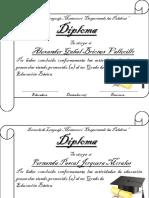 Diplomas Kinder B