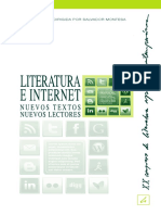 Literatura e Internet Nuevos Textos Nuevos Lectores