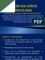 ELO Conta Vinculada Slides 15 e 16-03-2017