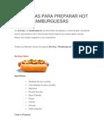14 Recetas Para Preparar Hot Dogs y Hamburguesas