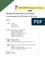 Resumen Examen Teórico de Manejo