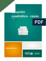 Ecuación cuadrática - casos