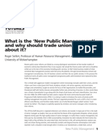 What is the New Public Management (and Why Should We Try to Root It Out)