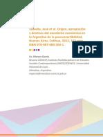 Sbatella, José Origen, Apropiación y Destinos Del Excedente Económico En La Argentina de La Posconvertibilidad