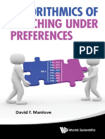 (Series on Theoretical Computer Science) David F Manlove-Algorithmics of Matching Under Preferences-World Scientific Publishing Company (2013)