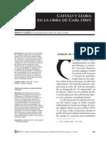 Catulo y Lesbia en la obra de Carl  Orff