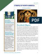 Murugan Temple Newsletter - Issue 1 - 2018