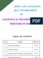 logisticstransportationindustryinindia-161123050646
