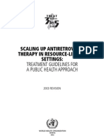 WHO HIV Treatment Guidelines.