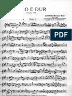 Ph.E.bach Trio E-dur Flöte 1