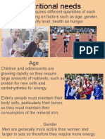 nutritional needs and rdi